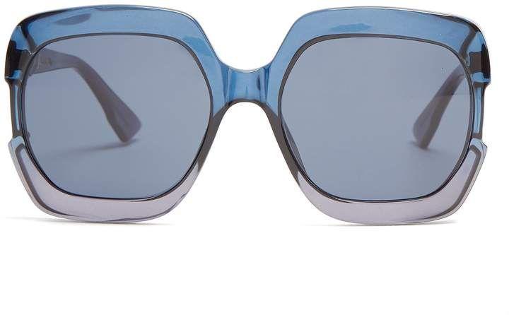 17d8f3cec3 DIOR Gaia square-frame acetate sunglasses  dior  sunglasses  squareframed   shopstyle  Sunglasses  Fashion  Summeroutfit  SummerFashion