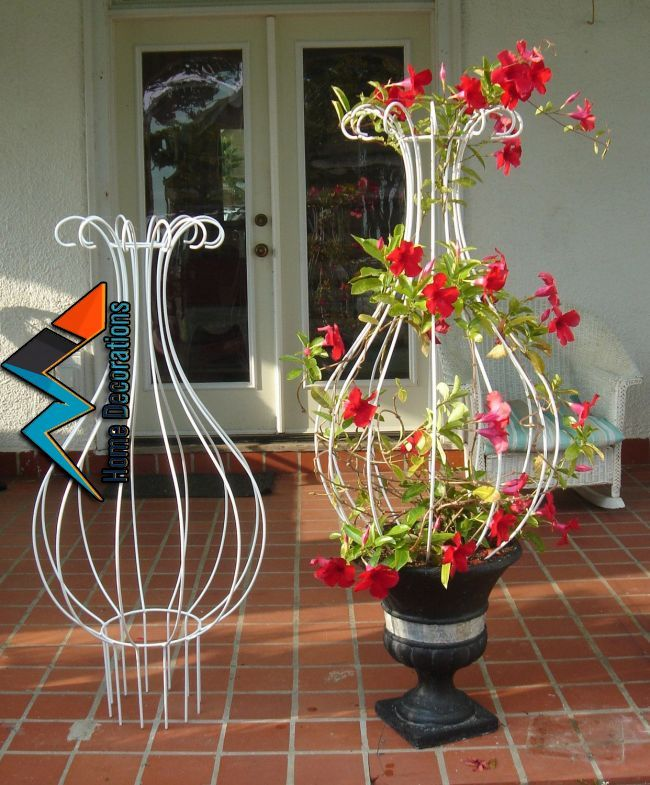 Diese Nur Blau Diese With Images Iron Trellis Plant Decor Wrought Iron Trellis