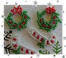 Set of 4 Minature Xmas Sequin Motifs Daisys Garden Embroidery is an Online Store supplying to the hand embroiderer and crafter.