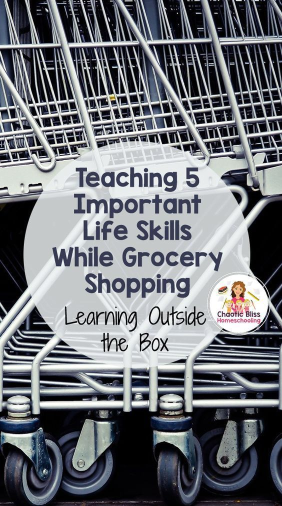 teaching 5 important life skills while grocery shopping