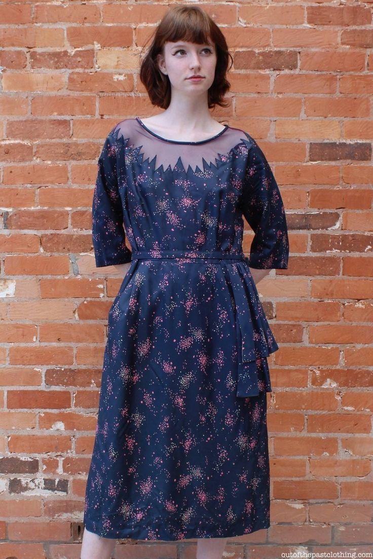 Vintage 1950s Linden Fashion Day Dress