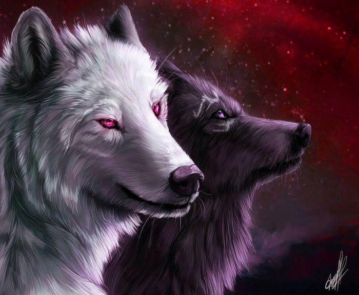 658 best creepy wolves anime images on pinterest anime - Anime wolves in love ...
