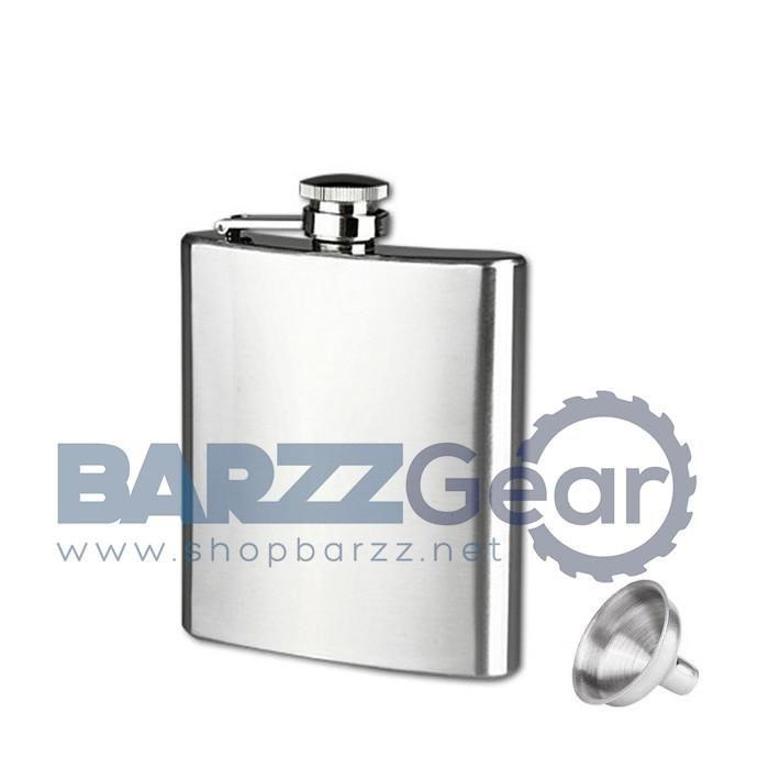 Pocket Hip Flask Screw Cap And Funnel Barware Tool