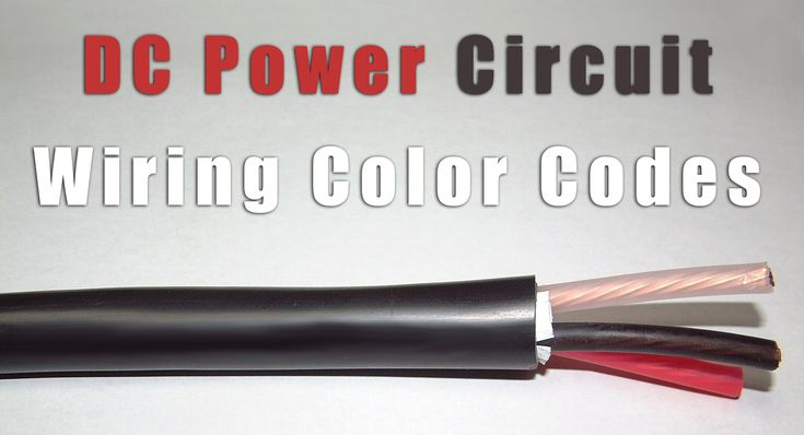 Dc Power Circuit Wiring Color Codes Label Id Systems Blog