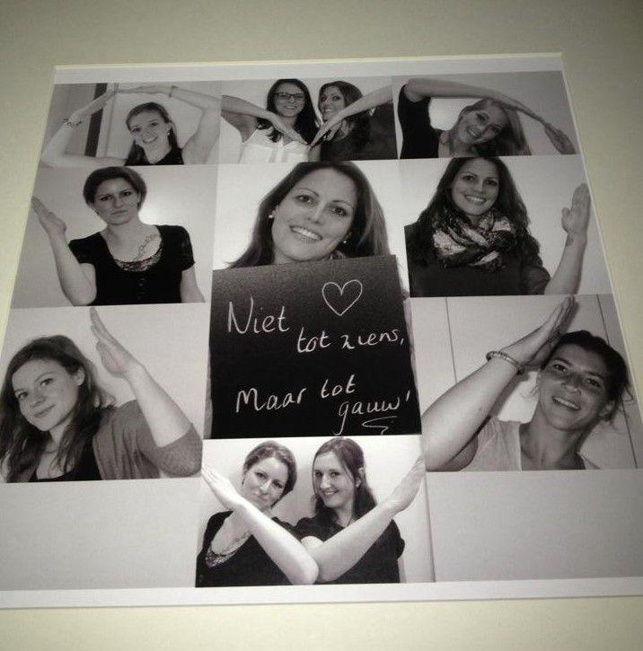 Leuk idee, hartvorm in collage foto's.