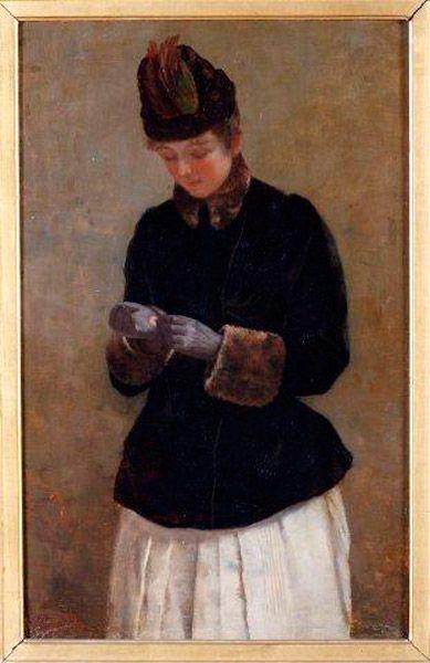 La mujer de los guantes.