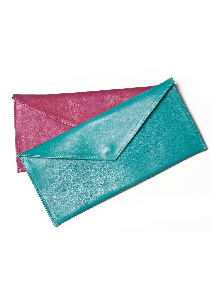 Leather envelope bag by Vassilis Thom