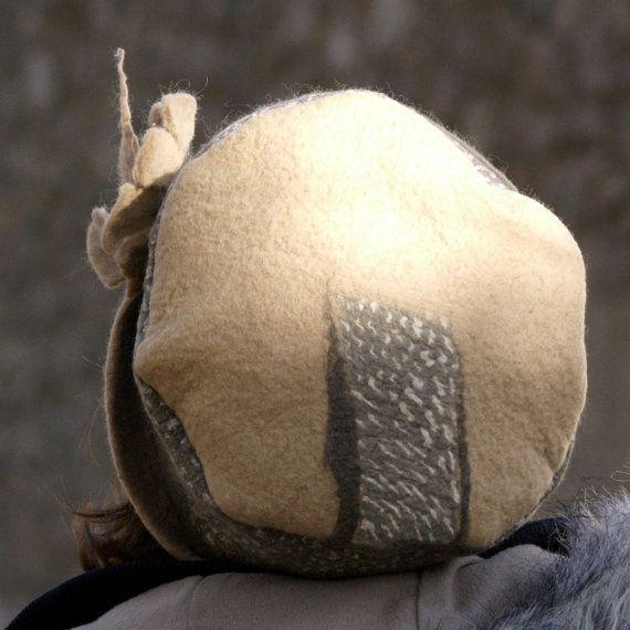 Unique handmade felt hats felt hat wool hat warm hat by jannio