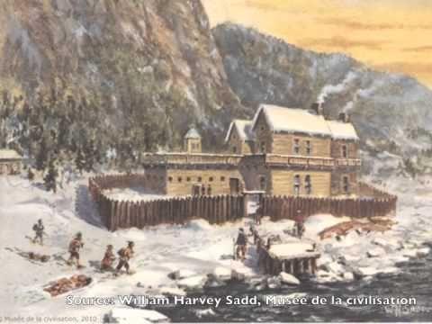 Les habitations en Nouvelle-France vers 1745