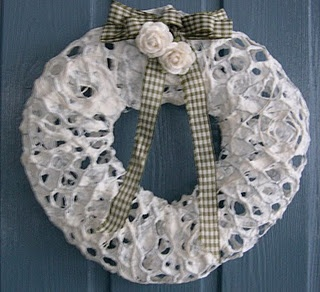 wire & paper wreath