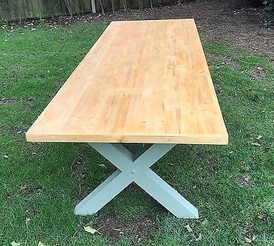 Large handmade rustic solid outdoor dinning table 3 m long x 1 m wide, will seat up to 12 Table to