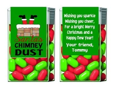 Christmas Tic Tacs - Santa's Chimney Dust, Green (background color can be changed)