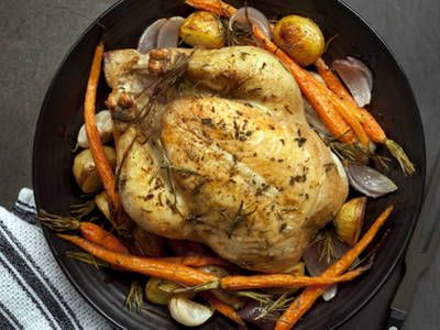 Cook yourself a delicious chicken in your Dutch oven. The delectable chicken falls off the bone and the vegetables are stewed in their own delicious juices. Just one bite and you�ll want to make every meal in your Dutch oven.