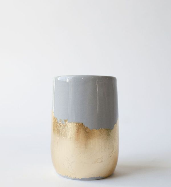 Ceramic vase clay art pottery vessel SHADES OF GREY ON AN AUTUMN DAY interior design home decor | THE STYLE FILES