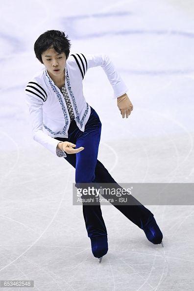Koshiro Shimada of Japan competes in the Junior Men Short Program... ニュース写真 | Getty Images