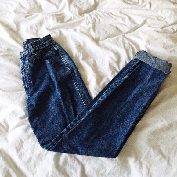Vintage High Waisted Jeans Excellent vintage condition. Seam detailing. Would fit a 25/26.  No trades! Vintage Jeans Boyfriend
