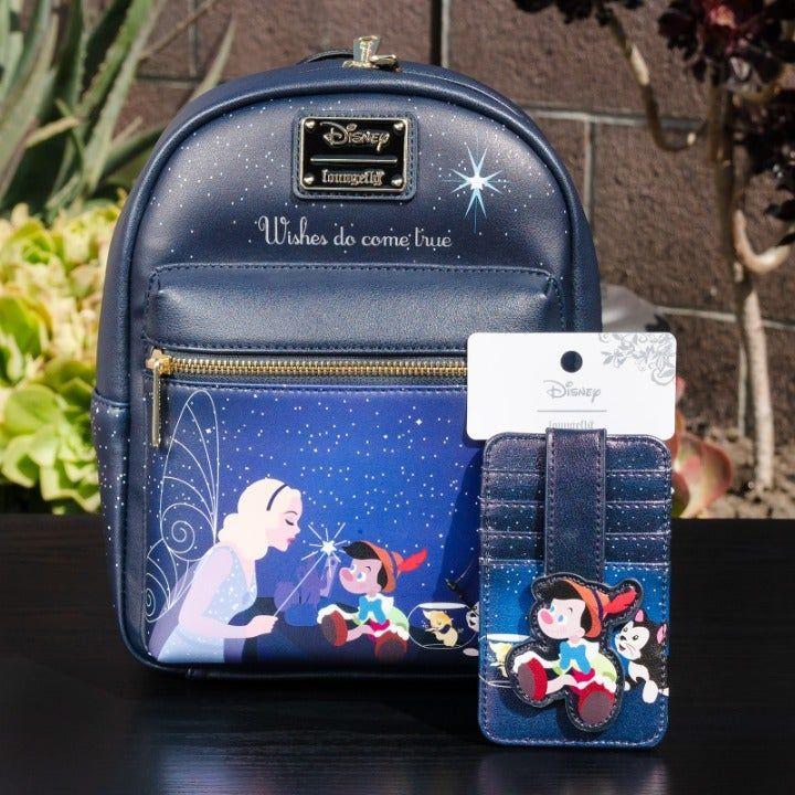 NWT Loungefly Disney Pinocchio Figaro Mini Backpack Matching Cardholder