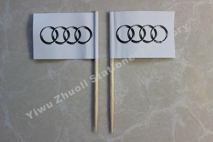 Free Shipping Audi Flag Toothpick  Flag 3.5X2.5CM 300pcs/bag //Price: $19.00 & FREE Shipping //     #hashtag3