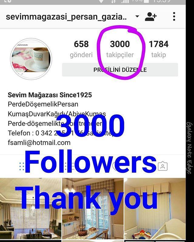 3000 Takipçi olduk...Teşekkür ederiz 🙏 🙏 🙏 #takipdekalin#yenilik#instadaily#curtain#home#decoration#idea#gaziantep#lüks#tasarim#özeldikim#dosemelikkumas#homedesign