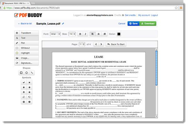 PDF Buddy: aggiungere testo e immagini ai file pdf