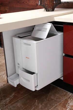 rice container for base cabinet