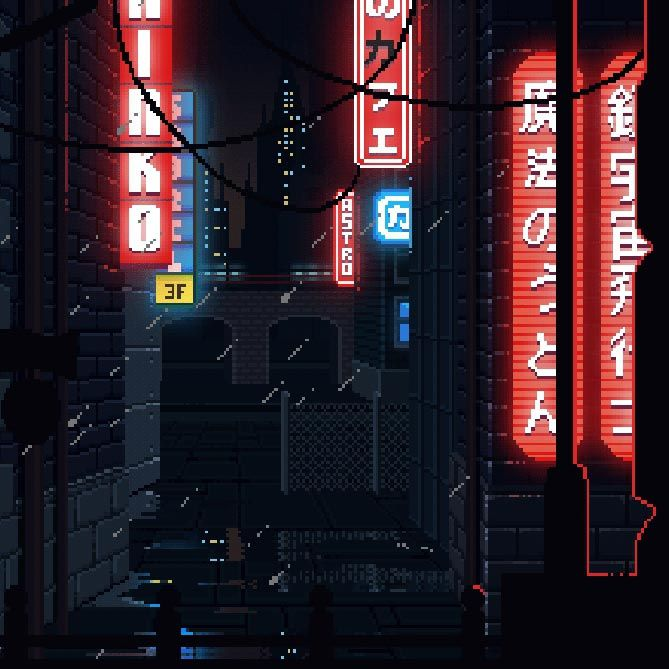 Cyberpunk Pixel Art Wallpaper Engine