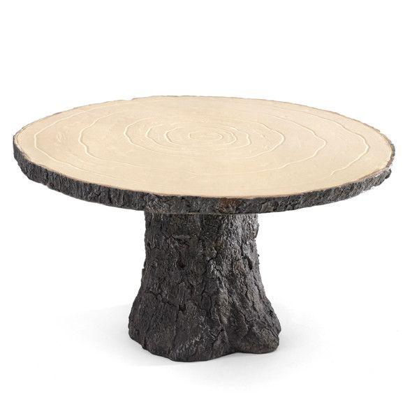 Rustic Log Wedding Cake Stand