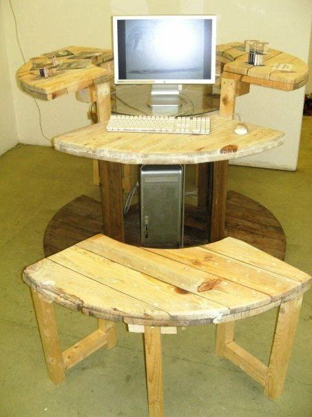 Wooden Spool Furniture | ... Buyer's Guide to Cable Reel Furniture - Houston - Arts - Art Attack