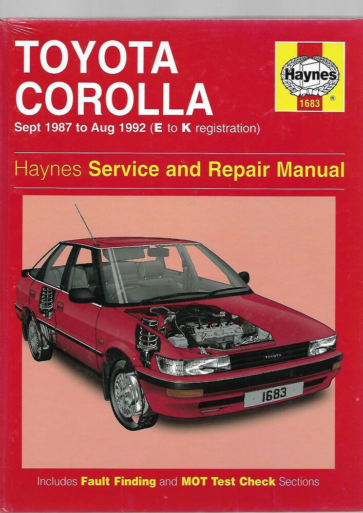 New Sealed Toyota Corolla Saloon Hatch Liftback Estate Service And Repair Manual Toyota Corolla Toyota Repair Manuals
