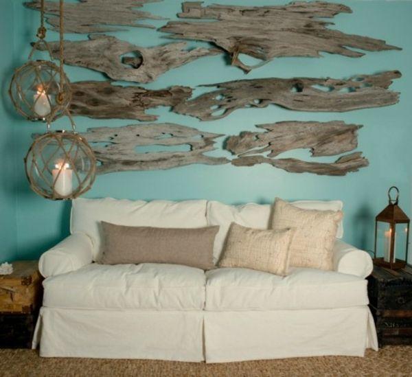 treibholz teile an der wand interessante leuchter wei es. Black Bedroom Furniture Sets. Home Design Ideas