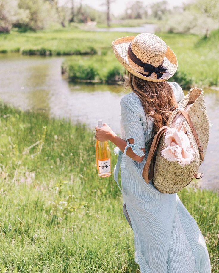 """18.6k Likes, 186 Comments - Julia Engel (Gal Meets Glam) (@juliahengel) on Instagram: """"Searching for the perfect spot for a rosé picnic on the ranch with a bottle of @ChloeWine in hand.…"""""""