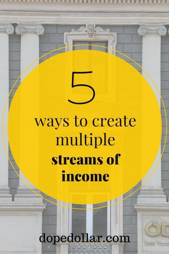 learn how to have multiple income streams today right here