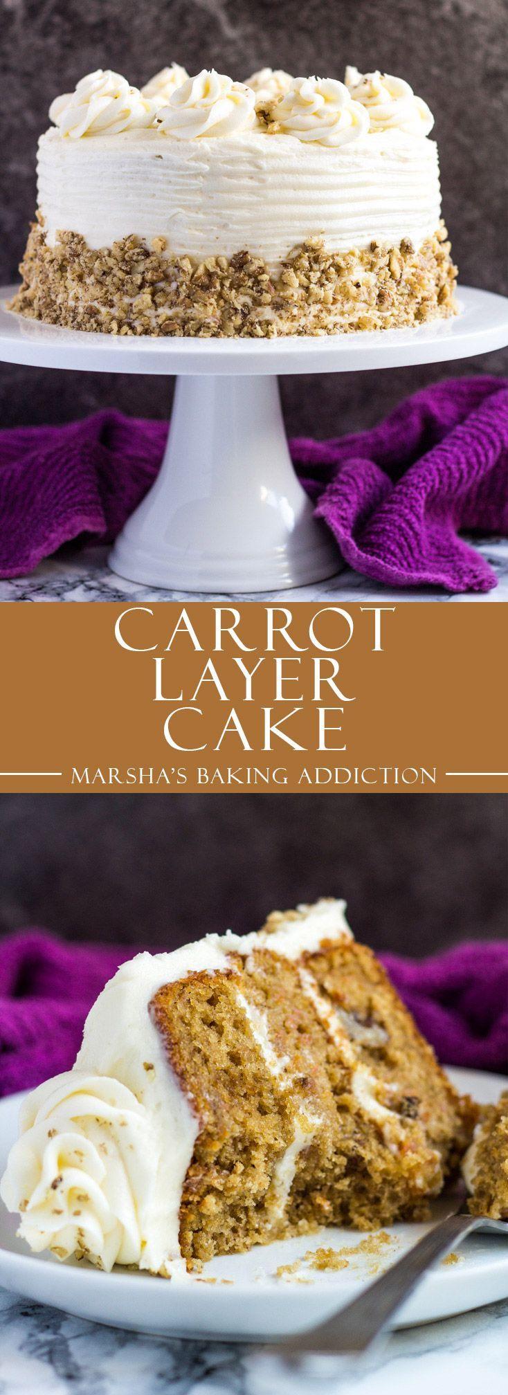 Carrot Layer Cake | http://marshasbakingaddiction.com /marshasbakeblog/