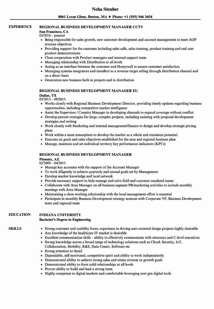 27 Business Development Resume Example in 2020 Resume