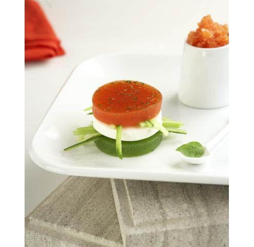 Molecular gastronomy the decomposed greek salad en aspic by chef christophoros peskias - Molecular gastronomy cuisine ...