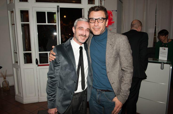 Actor Francesco Stella with Accademia Costume & Moda Press Officer Olivier Di Gianni #accademiacostumeemoda #francescostella