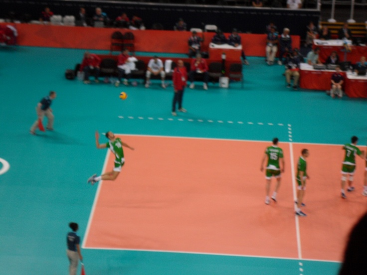 Team GB v Bulgaria (0-3), London 2012 Mens Volleyball Preliminary round