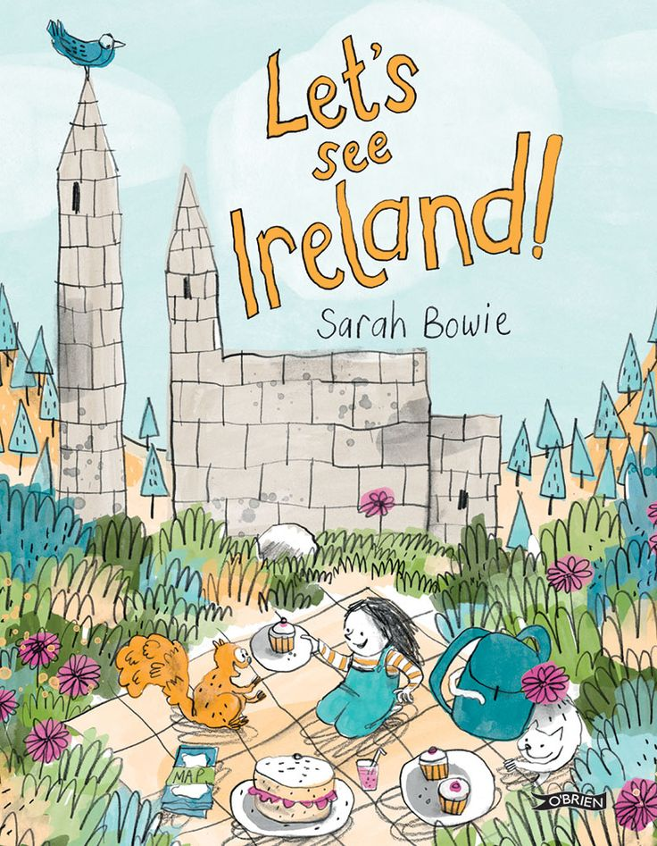 LET'S SEE IRELAND! Written by and Illustrated by Sarah Bowie  Follow Molly's journey in this gorgeous picture book that is sure to delight adults and children alike!  Molly, her parents and her cat Mipsy tour Ireland and see all the sights! Written and illustrated by Sarah Bowie. Locations include:  Dublin Zoo Christ Church Cathedral Rock of Cashel Hook Lighthouse Cork City Cliffs of Moher Giant's Causeway Titanic Belfast Newgrange