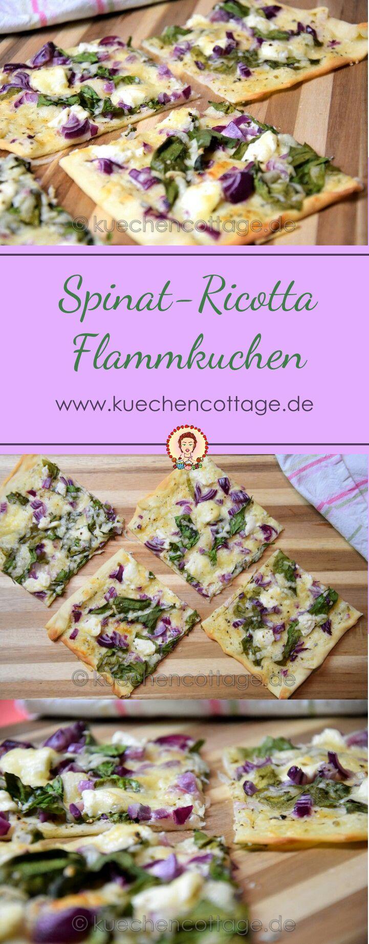 Spinat-Ricotta-Flammkuchen