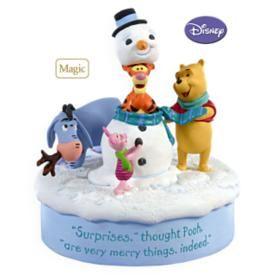 2009 winnie the pooh snowman surprise hallmark ornaments halloween