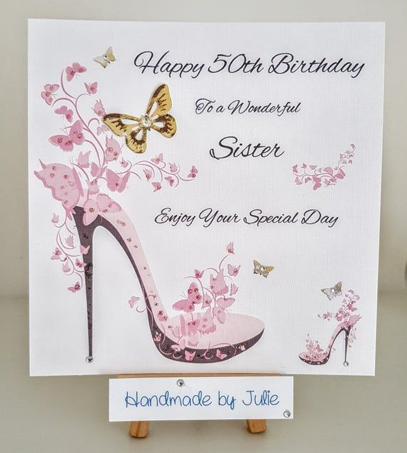 Check Out This Item In My Etsy Shop Https Www Etsy Com Uk Listing 757963336 50th Birthd 50th Birthday Cards For Women 50th Birthday Cards 30th Birthday Cards