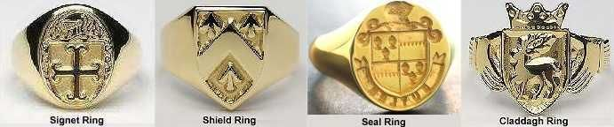 Family Crest Signet and Seal Rings