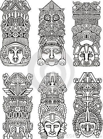 tótem indigena para impressão - Pesquisa Google