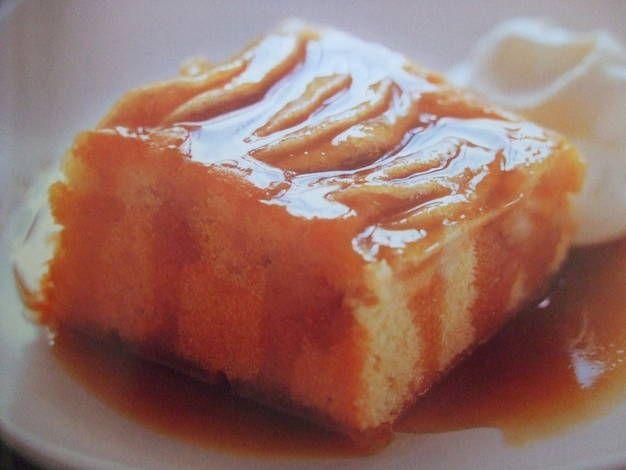 Pastel de manzanas y caramelo sin horno