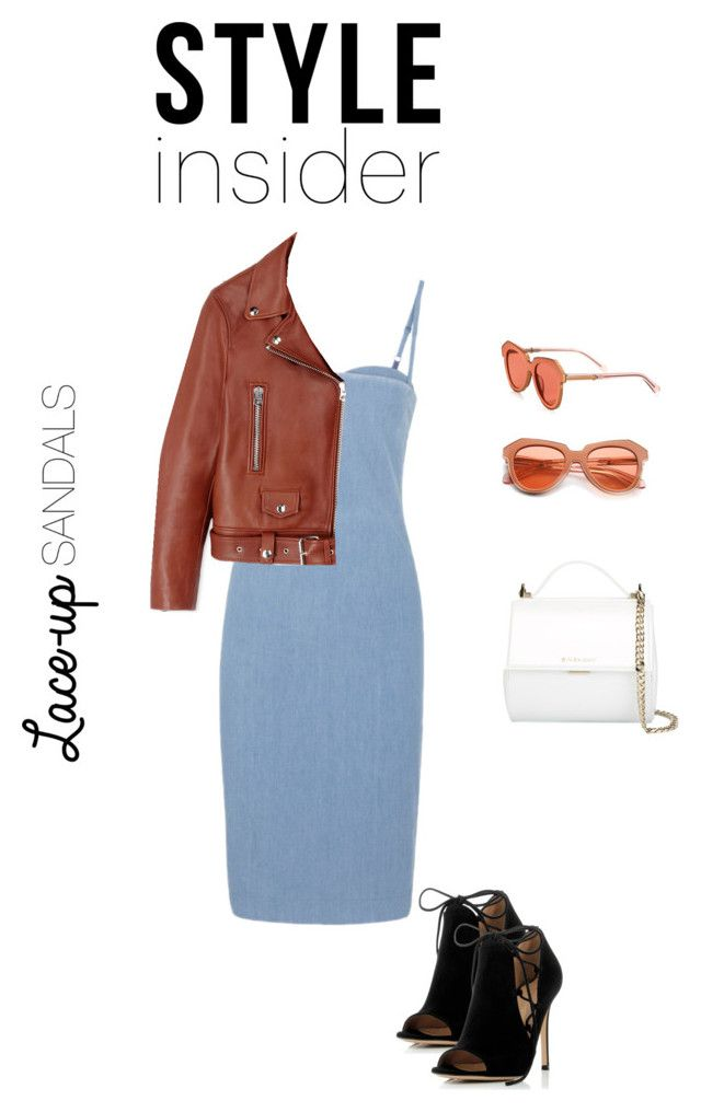 """""""Laced Up! P.3"""" by luluuheree on Polyvore featuring Gianvito Rossi, Acne Studios, Karen Walker, Givenchy, contestentry, laceupsandals and PVStyleInsiderContest"""