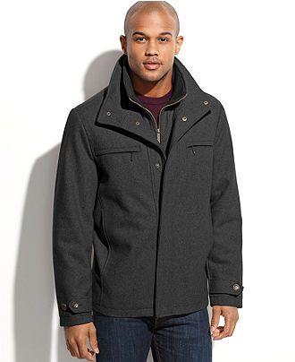 London Fog Big and Tall Coat, Alanson Bib Insert Wool-Blend Jacket - Big & Tall Coats - Men - Macy's