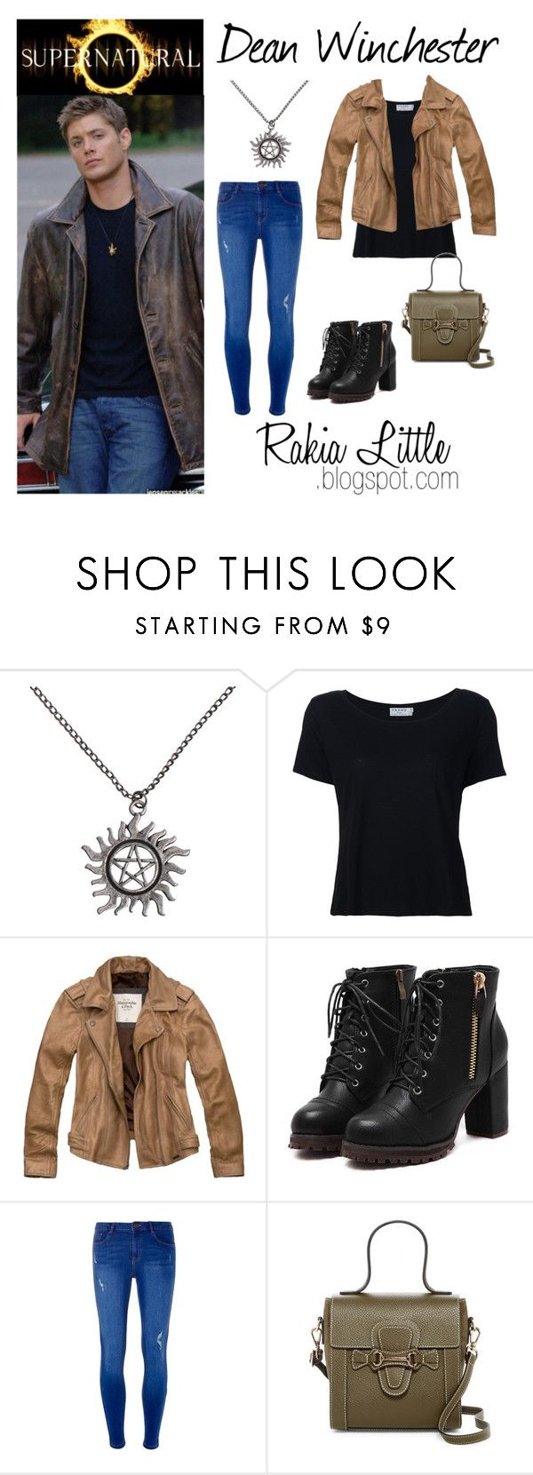 """""""Dean Winchester - Cosplay Casual"""" by rakialittle on Polyvore featuring Frame Denim, Abercrombie & Fitch, Dorothy Perkins and Mario Valentino"""
