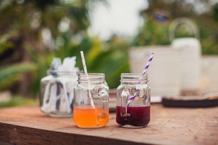 Mason Jar Mug, Homemade Lemonade, Paper Straw, Engagement Party.
