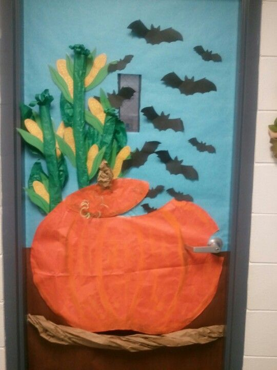 Fall classroom door THERE'S MORE THAN CORN IN INDIANA B-BOARD