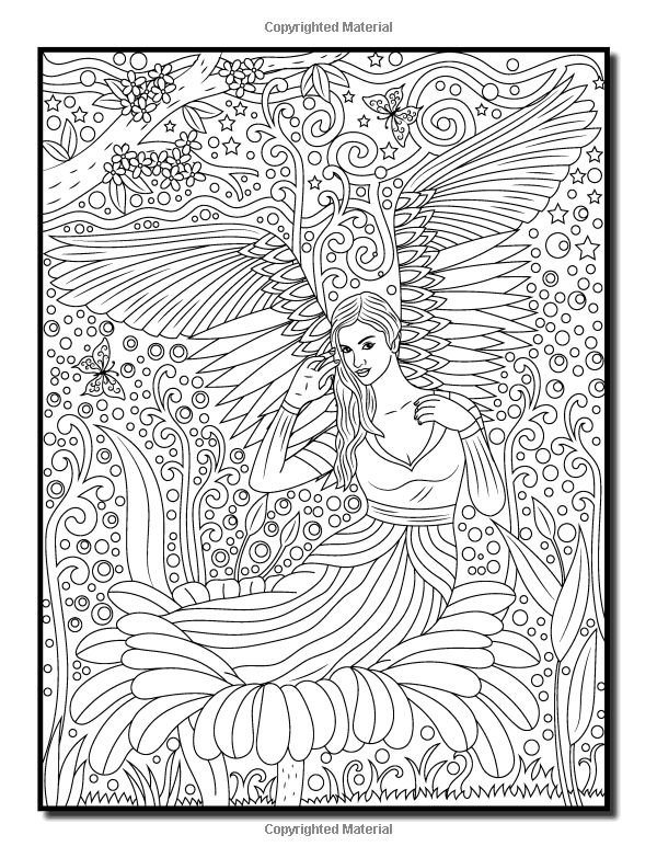 59 best Angels Coloring Pages for Adults images on Pinterest ...